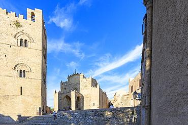 Duomo dell'Assunta, Erice, province of Trapani, Sicily, Italy, Europe