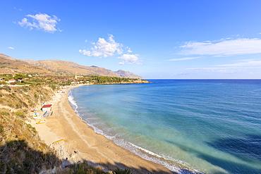 Beach of Guidaloca, Castellammare del Golfo, province of Trapani, Sicily, Italy, Mediterranean, Europe