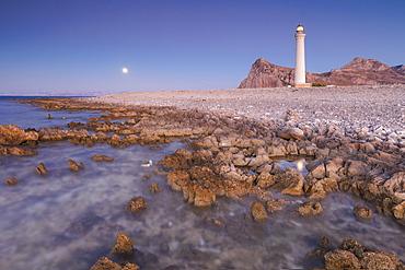 Lighthouse at sunset, San Vito Lo Capo, province of Trapani, Sicily, Italy, Mediterranean, Europe