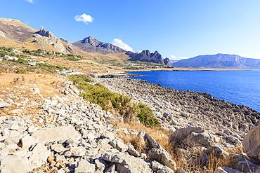 Beach of Isulidda, San Vito Lo Capo, province of Trapani, Sicily, Italy, Mediterranean, Europe