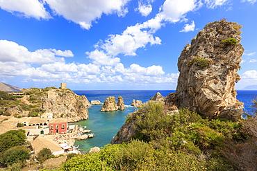 Cliffs around Tonnara di Scopello, Castellammare del Golfo, province of Trapani, Sicily, Italy, Mediterranean, Europe