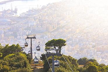 Funicular to Erice, Trapani, Sicily, Italy, Mediterranean, Europe