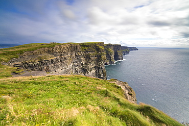 Cliffs of Moher, edge of the Burren region in County Clare, Munster, Republic of Ireland, Europe