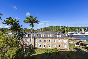 View of Fort James, the main historic building of Antigua, built by the British for fear of a French invasion, Antigua, Leeward Islands, West Indies, Caribbean, Central America