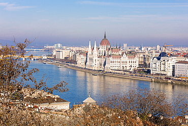Parliament Building and River Danube, Budapest, Hungary, Europe