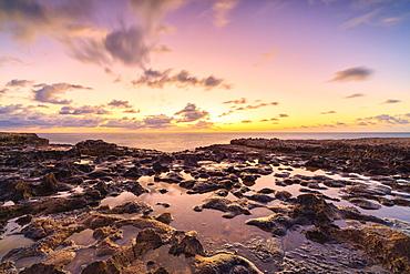 Devil's Bridge at sunrise, Antigua, Antigua and Barbuda, Leeward Islands, West Indies, Caribbean, Central America