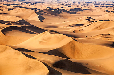 Aerial view of the dunes of the Namib Desert, Namibia, Africa