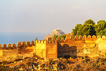 Alcazaba of Malaga walls in Spain, Europe