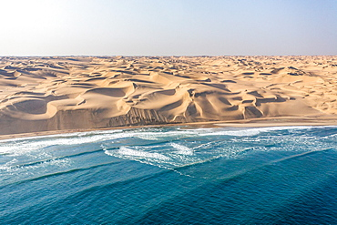 Namib desert, home to some of the most spectacular dunes of the world, continues right to the edge of the Atlantic Ocean, Namibia, Africa