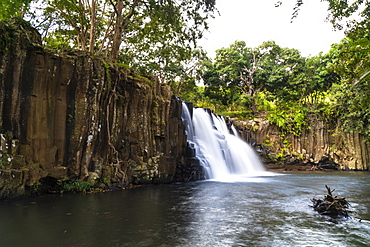 Flowing water of Rochester Falls, Souillac, South Mauritius, Indian Ocean, Africa