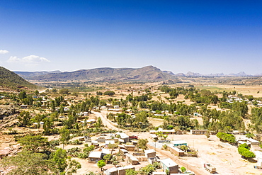 Wukro village close to the ancient Abreha We Atsbeha church, Tigray Region, Ethiopia, Africa