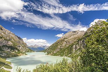 The Avio Lakes in the Avio Valley in the Adamello Park, Valcamonica, Lombardy, Italy, Europe