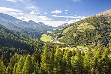 Santa Maria village, Umbrail Pass, Mustair Valley, Canton of Grisons (Graubunden), Switzerland, Europe