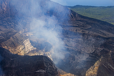 Smoking Ambrym volcano, Vanuatu, Pacific