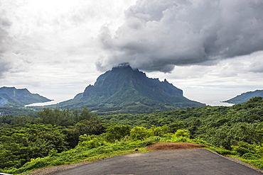 Belvedere Overlook, Moorea, Society Islands, French Polynesia, Pacific