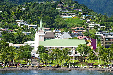 Downtown Papeete, Tahiti, Society Islands, French Polynesia, Pacific