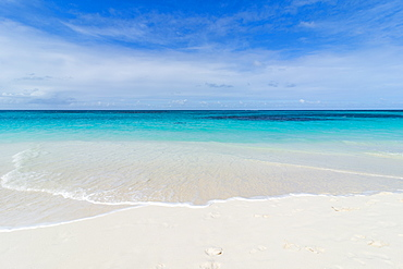 Turquoise waters and whites sand on the world class Shoal Bay East beach, Anguilla, British Oversea territory, West Indies, Caribbean, Central America