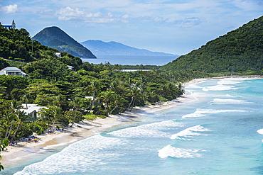View over Long Beach, Tortola, British Virgin Islands, West Indies, Caribbean, Central America