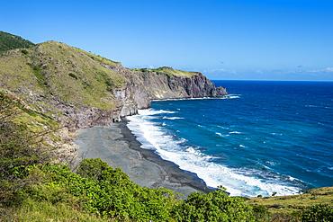 Coastline of Montserrat, British Overseas Territory, West Indies, Caribbean, Central America