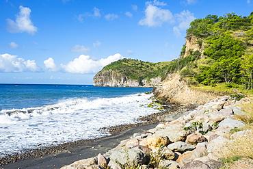 Volcanic sand beach, Montserrat, British Overseas Territory, West Indies, Caribbean, Central America