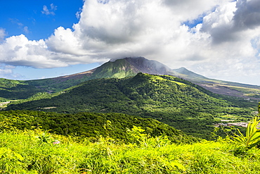 Soufriere hills volcano, Montserrat, British Overseas Territory, West Indies, Caribbean, Central America