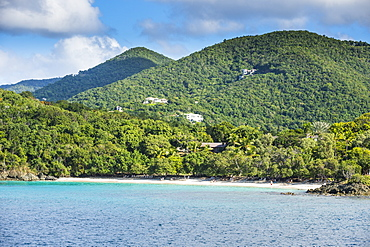 White sand beach in St. John, Virgin Islands National Park, US Virgin Islands, West Indies, Caribbean, Central America