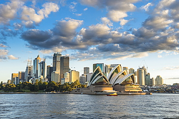 The skyline of Sydney at sunset, New South Wales, Australia, Pacific