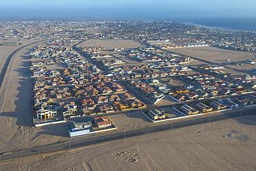 Aerial of Swakopmund, Namibia, Africa