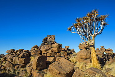 Unusual rock formations, Giant's Playground, Keetmanshoop, Namibia, Africa