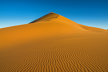 The giant Sand Dune 45, Sossusvlei, Namib-Naukluft National Park, Namibia, Africa