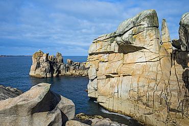 Huge granite rocks on St. Mary's, Isles of Scilly, England, United Kingdom, Europe