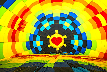Inside a hot air balloon, California, United States of America, North America