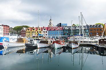 Harbour of Torshavn, capital of Faroe Islands, Streymoy, Faroe Islands, Denmark, Europe