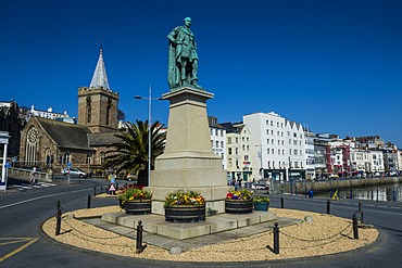 Prince Albert statue, Saint Peter Port, Guernsey, Channel Islands, United Kingdom, Europe