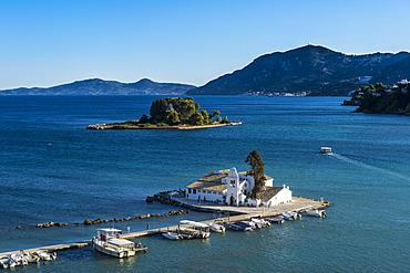 Vlacherna Monastery, Kanoni, Corfu, Ionian Islands, Greek Islands, Greece, Europe
