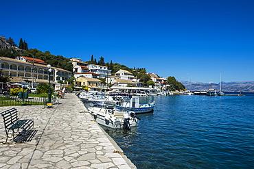 Harbour of Kassiopi, northern Corfu, Ionian islands, Greek Islands, Greece, Europe
