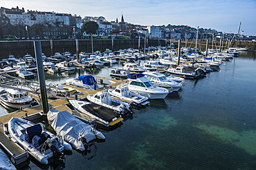 Sport boat harbour in Saint Peter Port, Guernsey, Channel Islands, United Kingdom, Europe