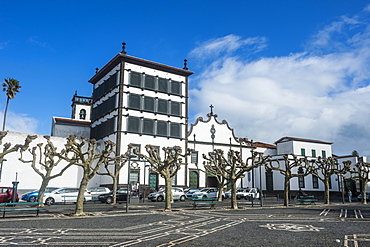 The historic town of Ponta Delgada, Island of Sao Miguel, Azores, Portugal, Atlantic, Europe