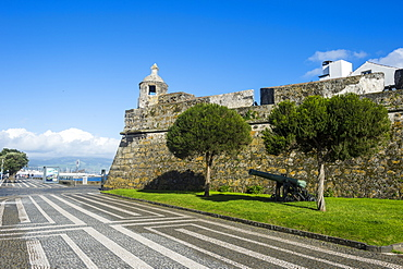 Castle of St. Blaise, the historic town of Ponta Delgada, Island of Sao Miguel, Azores, Portugal, Atlantic, Europe