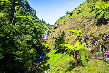 Beautiful valley in Achada, Island of Sao Miguel, Azores, Portugal, Atlantic, Europe