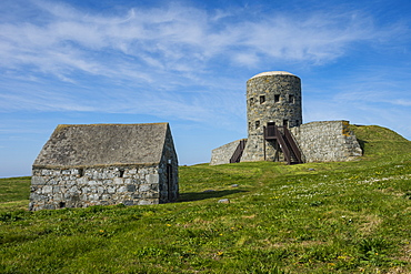 Matello defence tower, Guernsey, Channel Islands, United Kingdom, Europe
