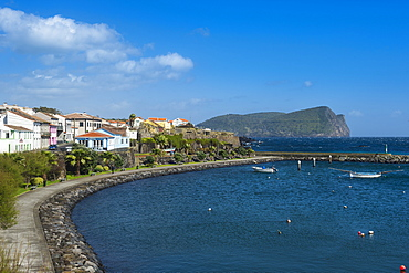 View over the harbour of Sao Mateus de Calheta, Island of Terceira, Azores, Portugal, Atlantic, Europe