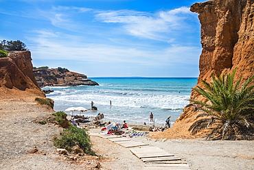 Sa Caleta beach, Ibiza, Balearic Islands, Spain, Mediterranean, Europe