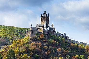 Cochem castle, Cochem, Moselle, Rhineland-Palatinate, Germany, Europe