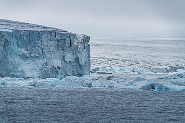Massive icefield, Champ Island, Franz Josef Land archipelago, Arkhangelsk Oblast, Arctic, Russia, Europe
