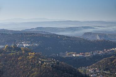 View over Velicky Tarnovo from Arbanasi, Bulgaria, Europe