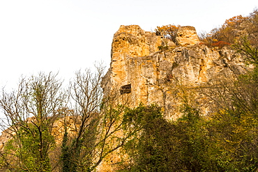 Ivanovo Rock Church The Holy Mother, 14th century Palaeologian style Medieval Christian Art, UNESCO World Heritage Site, Roussenski Lom River Valley, Bulgaria, Europe