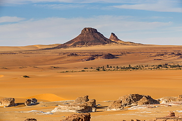 Beautiful desert scenery in northern Chad, Africa