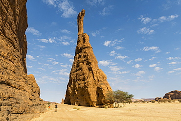 Massive single rock tower, Ennedi Plateau, UNESCO World Heritage Site, Ennedi region, Chad, Africa