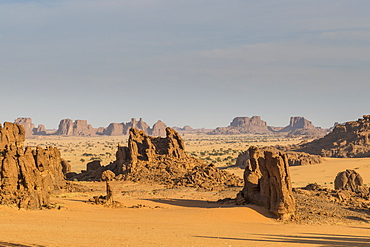 Beautiful rock formations, Ennedi Plateau, UNESCO World Heritage Site, Ennedi region, Chad, Africa